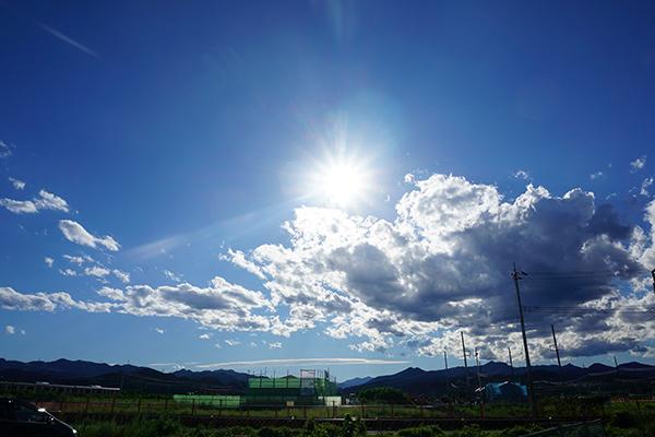 田舎の夏空 武蔵引田